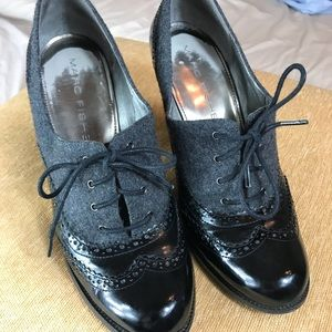 Marc Fisher vintage oxford lace up heels sz 9